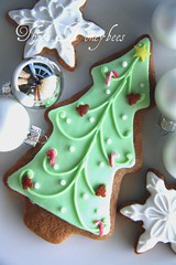 Christmas tree cookie (Three Honeybees) Tags: christmas man tree green cane star cookie candy gingerbread icing cutter fondant