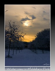 Winter view at Middelheim Park (jefpics) Tags: winter sunset sky white clouds wolken antwerpen picnik beautifulphoto masterphotos photoshopalbum panasonicdmcg1 phoddastica