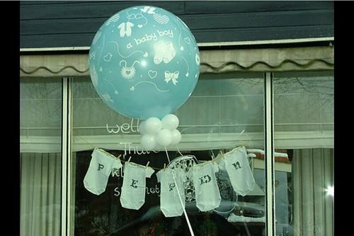 Cloudbuster Rond Geboorte Baby Jongen