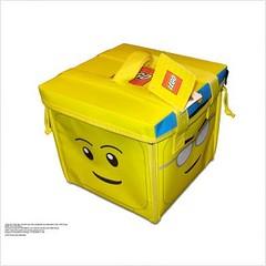 LEGO Head ZipBin Toy Tote & Playmat