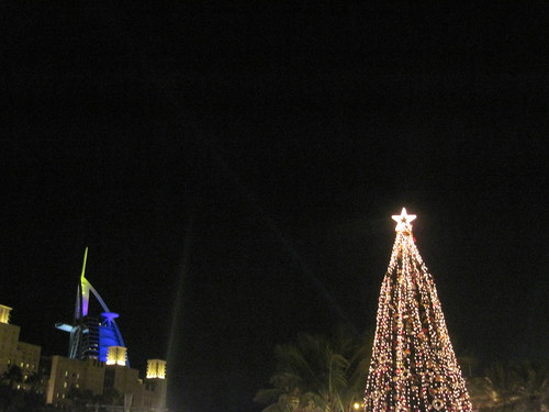 Christmas Tree and Burj Al Arab