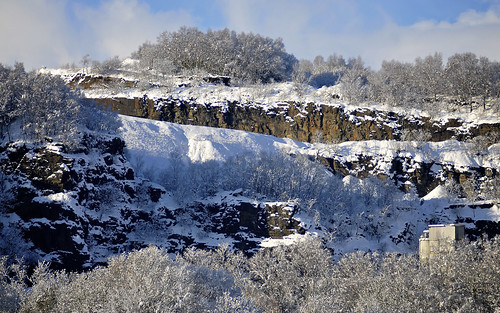 Quarry In The Snow