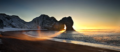 Durdle Door Sunrise (peterspencer49) Tags: ocean door uk winter sunset sea seascape southwest beach water sunrise bay coast waves arch steps unesco dorset stunning limestone archway oceanview seaview seamist coastalpath westcountry southwestcoast lulworthcove sunning durdledoor stonearch jurassiccoast rockarch dorsetcoast southwestcoastalpath stunningview seascene limestonearch 5dmkll peterspencer stunningseascape beachseaview