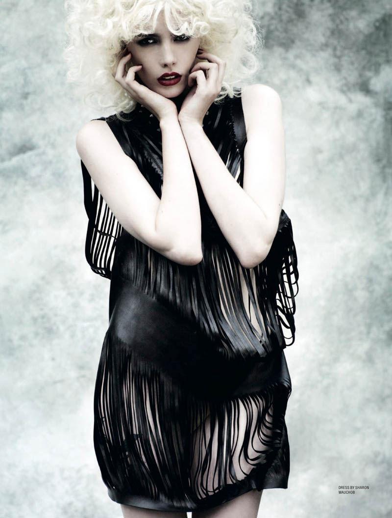 Sharon Wauchob Slit leather dress Karen Magazine