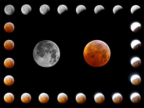 フリー写真素材, 自然・風景, 月, 月食,