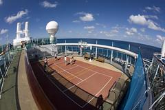 Jewel of the Seas (blueheronco) Tags: cruise ship basketballcourt fisheyelense jeweloftheseas royalcaribbeancruises