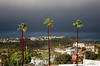 3 Against the Storm (Didenze) Tags: california storm clouds dark grey glow rooftops i5 windy hills explore palmtrees orangecounty sanclemente goldenhour sunkissed stormclouds canon450d exposurefusion didenze