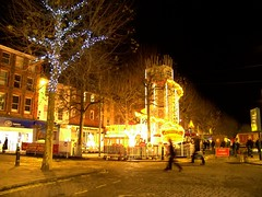 Christmas Fair (Kate Donkin) Tags: christmas york uk england night evening darkness britain yorkshire christmaslights fairgroud