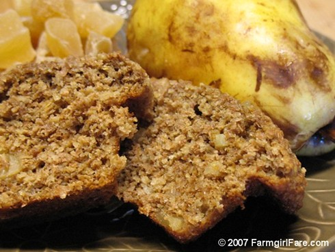100% Whole Grain Ginger Pear Muffins