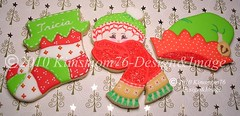 Christmas Cookies (kimsmom76(Susan)) Tags: christmas winter holiday scarf cookie designer unique cap stocking elfhat kimsmom elfshoe kimsmom76