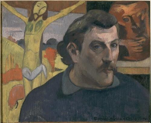Portrait de l'artiste au Christ jaune, Paul Gauguin, 1890-1891