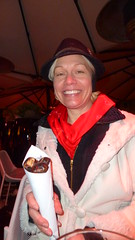 Marguerite Bought Roasted Chestnuts (A.Currell) Tags: bar river out bars europe eating capital drinking basin slovenia chestnuts ljubljana marguerite bought roasted laibach ljubljanica lubiana labacum