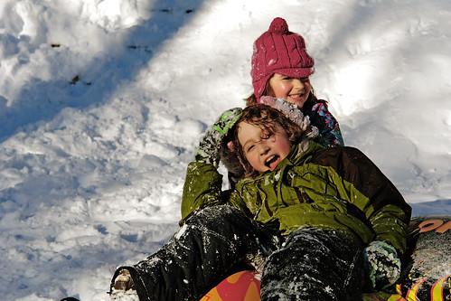 final sled run carl schurz park, garden - snowpocalypse nyc 2010
