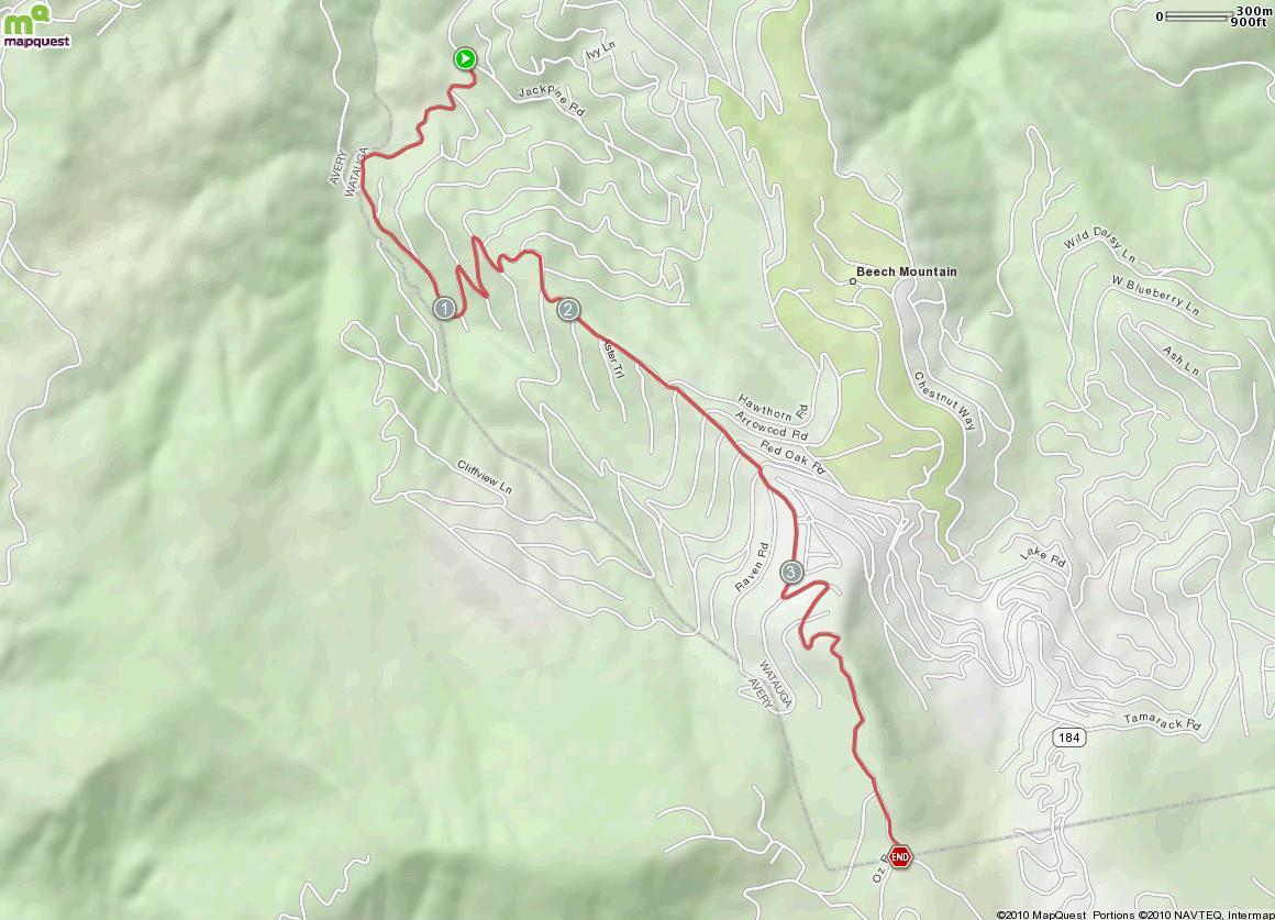 Beech Mountain North Map