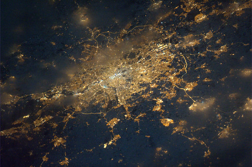 London as seen from ISS