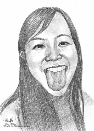 lady portrait in pencil 081210