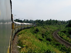Taking me home ...... (Jay fotografia) Tags: india trains kerala journey greenery traveling kollam indianrailways diesellocomotive irfca garibrath jayasankarmadhavadas