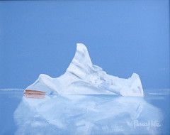 The Iceberg That Sank The Titanic, by Pascal Lee (Pascal Lee) Tags: ocean cruise sea snow ice water newfoundland painting island frozen marine ship antarctica atlantic glacier arctic shipwreck maritime iceberg sos polar wreck titanic sinking britannica pascallee