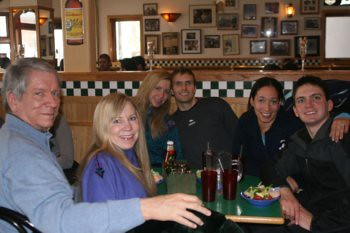 Terry, Deb, Christina, Tom, Chea, and Will at Pazzo's Pizzeria in Vail, January 1, 2010.