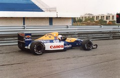 Alain Prost. Williams FW14B. (Wally Llama) Tags: williams camel alainprost williamsfw14b
