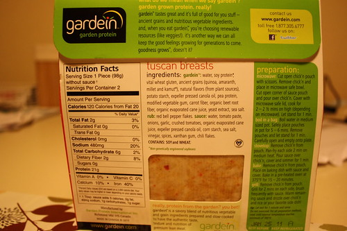 gardein tuscan breast back