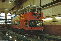 New look for an old bus (Lady Wulfrun) Tags: bus pits by manchester bury 1982 view shot garage corporation bolton depot inside 1972 1980s internal livery gmpte greatermanchester pte selnec 6816 brownskirt march1982 clippercard 06mar1982 twh816k