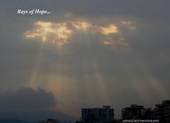 Rays of Hope (Anindya Roy Photography (catching up)) Tags: sunset india vizag visakhapatnam ramkrishnabeach