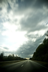 On The Road Again (MattGerlachPhotography) Tags: road travel trees sky blur lines clouds drive highway empty traveling sr20 passinglane stateroad20 mattgerlachphotography