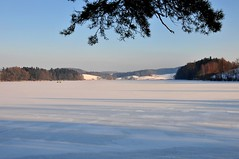 Lac de Brt (Diegojack) Tags: lac neige paysages glace wonderfulworld