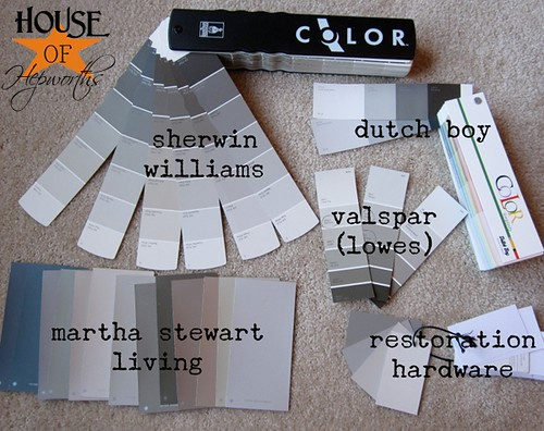 Choosing gray paint. Tons of inspiration photos and tips on how to choose your favorite gray. www.houseofhepworths.com