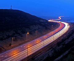 Trans-Pennine rush hour (4) (Craig Hannah) Tags: pictures road uk longexposure england photography traffic motorway photos yorkshire images photographs oldham rushhour pennine pennines scammonden m62 saddleworth greatermanchester westriding j22 project365 4365 craighannah