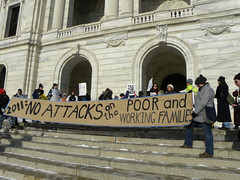 Protest against cuts in Minnesota social programs