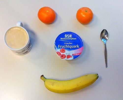 Frischer Fruchtquark, Clementinen & Banane