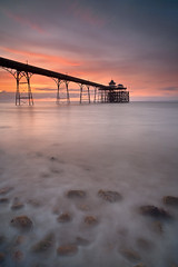 Clevedon Pier Somerset (peterspencer49) Tags: ocean uk greatbritain sunset england seascape beach coast unitedkingdom somerset stunning coastline seaview clevedon westcountry southwestcoast clevedonpier stunningview seascene oceanveiw 5dmkll stunningseascape beachseaview