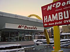 "McDonalds ""Store Number ONE""   ~ 1 of 3 photos (Urban Woodswalker) Tags: history vintage logo design illinois midwest graphic fastfood icon mcdonalds 1950s signage americana branding goldenarches desplaines urbanwoodswalker mrspeedee maenriquez"