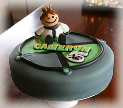 Ben 10 cake (Cute Sweet Thing) Tags: birthday boy white black green cake grey ben 10 5 watch cameron figurine benten ben10 boysbirthdaycake boyscake bentencake ben10birthdaycake