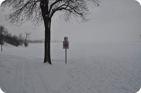 Westboro Beach in winter