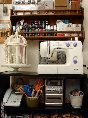 Sewing Machine, Misters, Paint, Blank Books, etc.