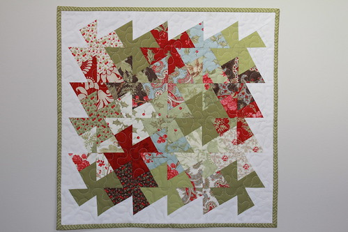 Lil Twister experiment Christmas quilt wall hanging