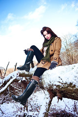 Hunter Boots (andrew-lynch) Tags: camera snow umbrella shoot minolta boots leah sony flash scene blackburn hunter through dslr left welly catalogue 28135mm strobe a900 strobist f445 hvl56am nostrobistinfo