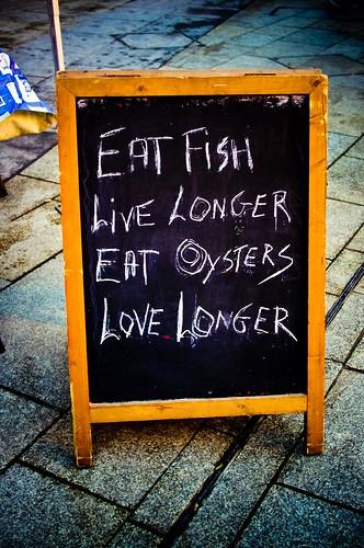 Eat Fish, Live Longer. Eat Oysters, Love Longer.