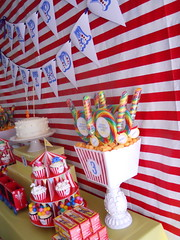 Circus Birthday (BambinaMia) Tags: birthday carnival party balloons tickets cupcakes photobooth circus clown elvis peanuts tent popcorn cottoncandy candybar lollipops favors duckpond bigtop dessertbuffet goodybag