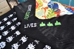 DSC_1200 (anapetree) Tags: wool handmade crafts crochet spaceinvaders yarn videogames blanket afghan theme arcadegame