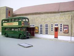 Dorking bus garage diorama (kingsway john) Tags: ds dorking bus garage kingsway models station london transport rt card kits 176 scale diorama londontransportmodel model oo gauge miniature