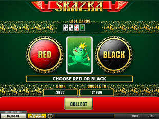 free Skazka slot gamble feature