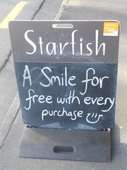 A good bargain - 2011-01-11 (4nitsirk) Tags: smile words starfish free 365 purchase bargain buying