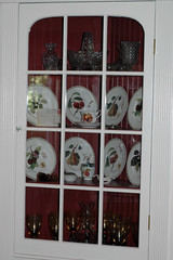 dining room corner cabinet (kizilod2) Tags: red white apple fruit corner cherry berry cherries pears wine cabinet peach plum decorating diningroom pear peaches apples plates dishes plums cupboard cutglass fluting beadboard fluted builtin