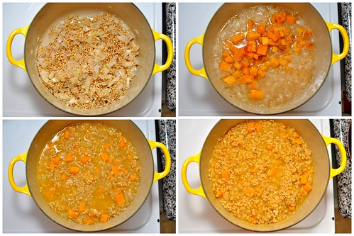 Barley Risotto with Butternut Squash and Fried Sage