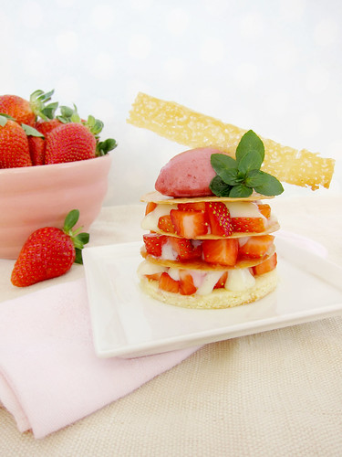 Strawberry Phyllo Napoleons