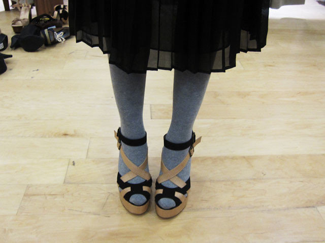 next sandals with grey tights
